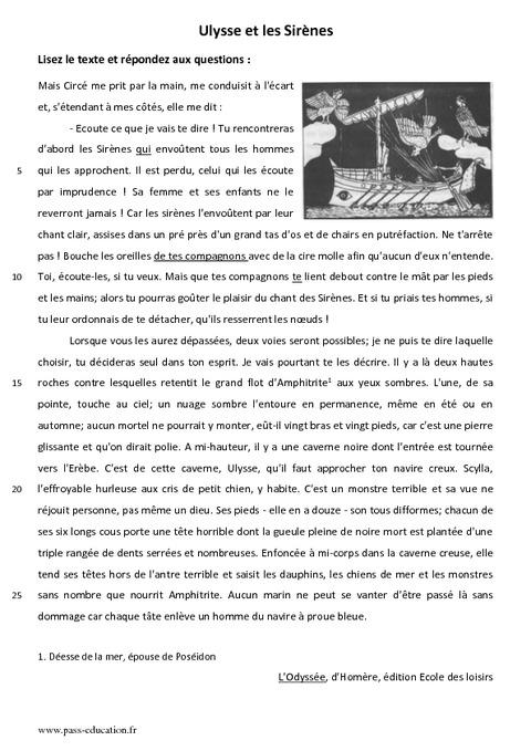 """Résultat de recherche d'images pour """"texte francais sixiemes"""""""