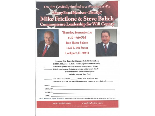 Balich &Fricilone  Will County Board District 7