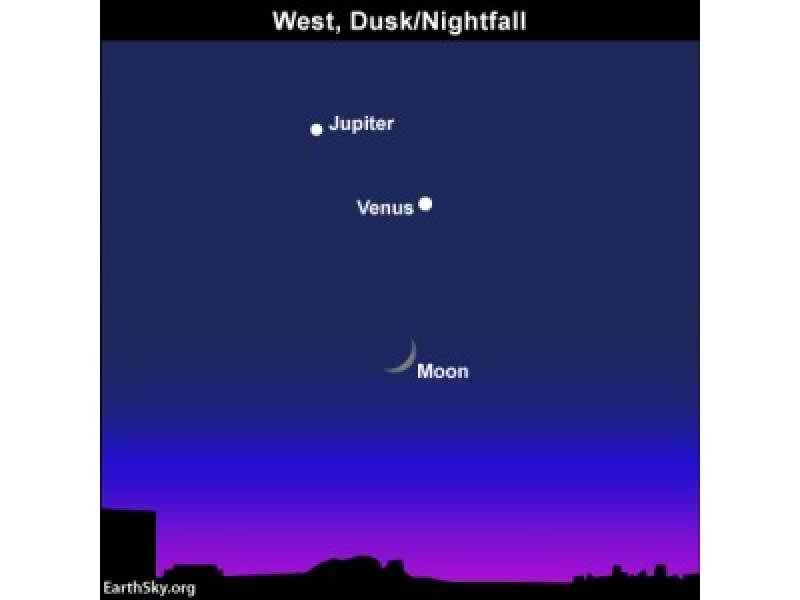 Dazzling Threesome Dances Into Twilight Sky This Weekend