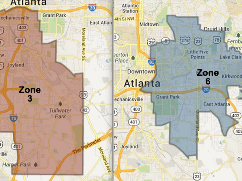 Atlanta Police Zone 6 Map