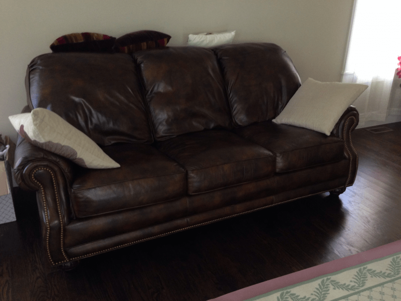 Brown Leather Hancock And Moore Sofa Couch For Sale 3000 Chatham NJ Patch