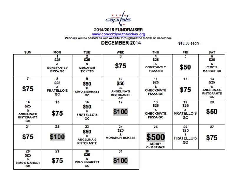 The Annual 2014 CYHA Fundraiser Calendar Is Back