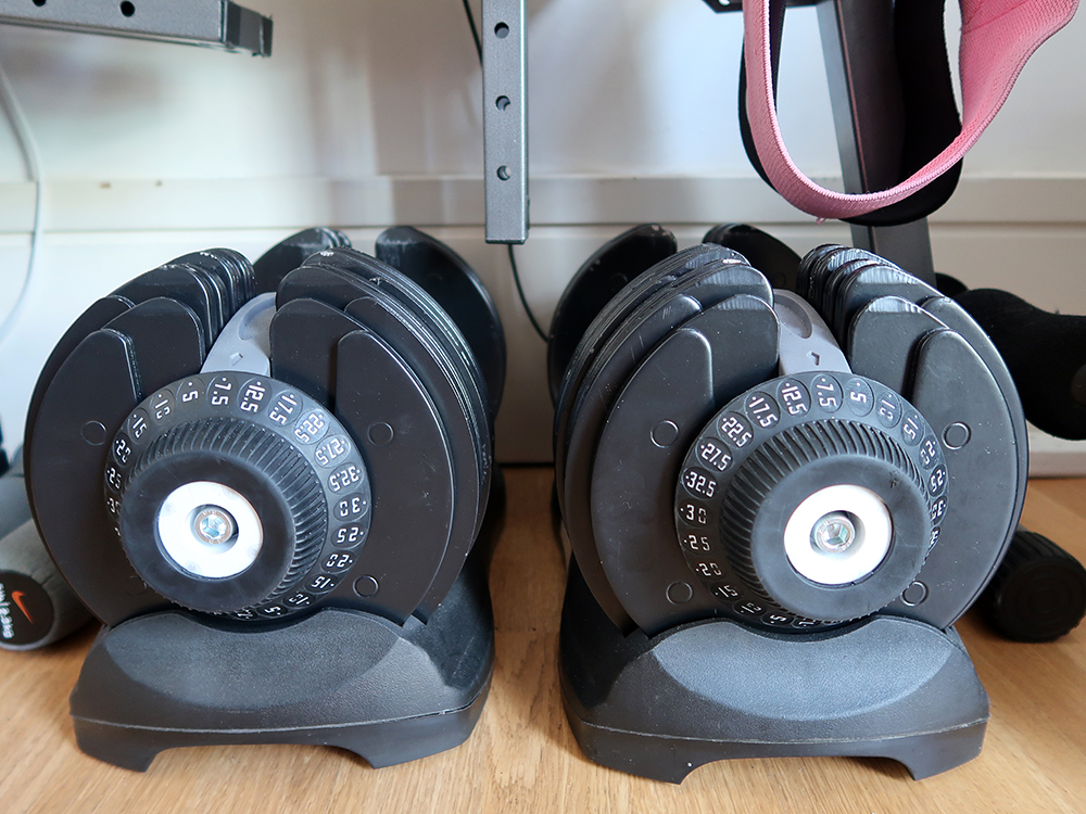 Adjustable dumbbells, the only thing you really need