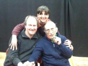 Don Gallo con Laura Tussi e Fabrizio Cracolici