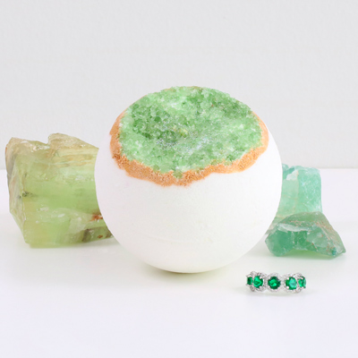 Emerald Geode Ring Bath Bomb Pack Of 1 Pearl Bath Bombs