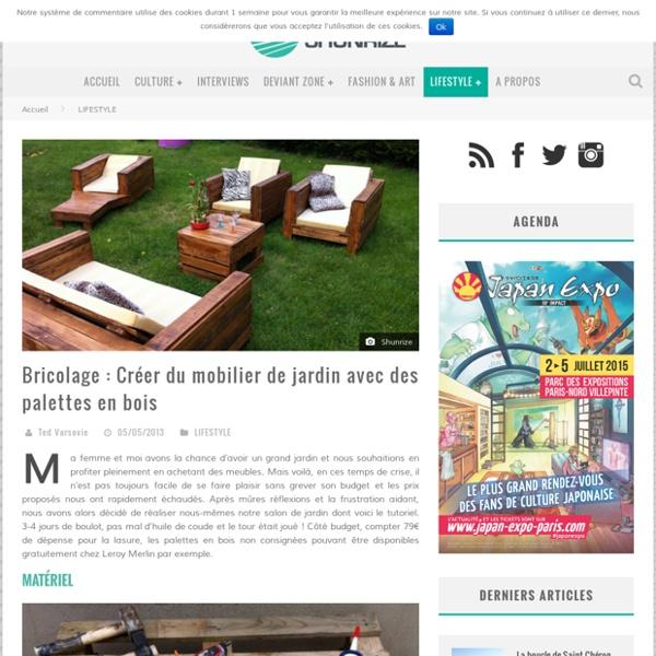 bricolage creer du mobilier de jardin avec des palettes en bois