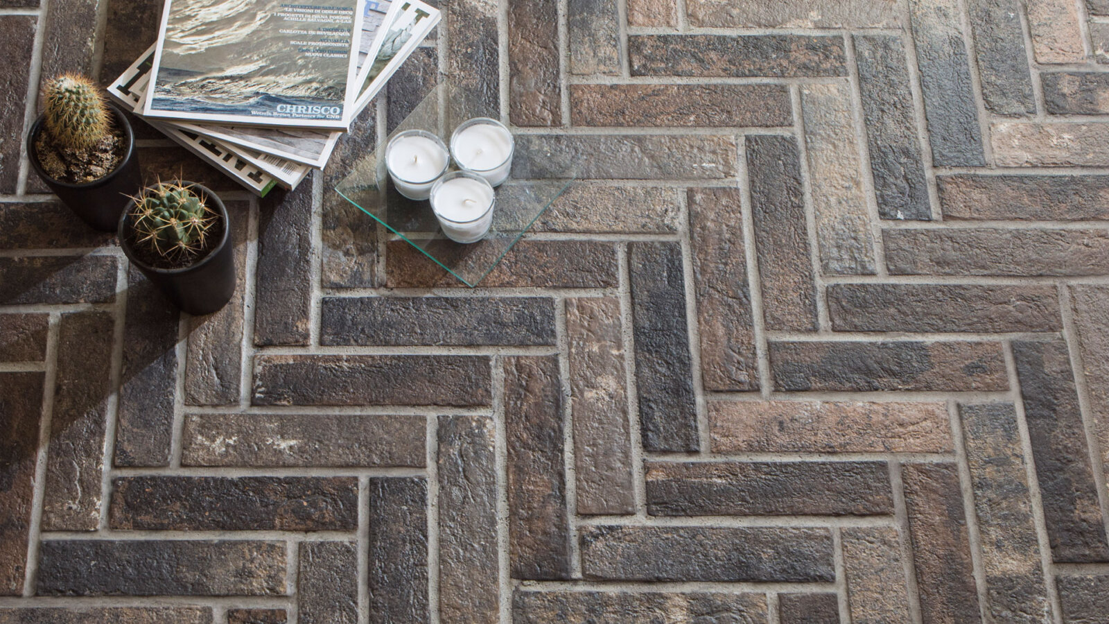 london brick range pentagon tiles