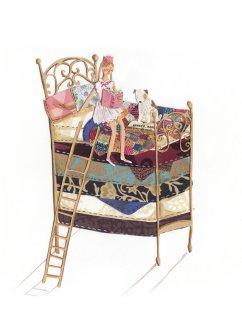 Illustrazione principessa sul pisello