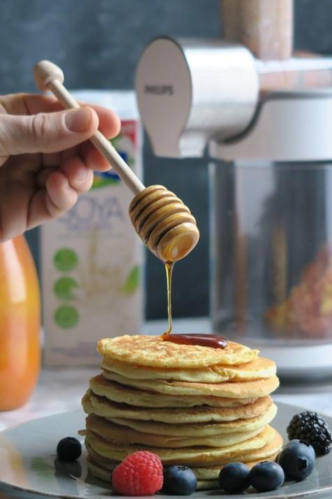 Pancakes con latte di Soya4