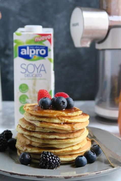 Pancakes con latte di Soya6