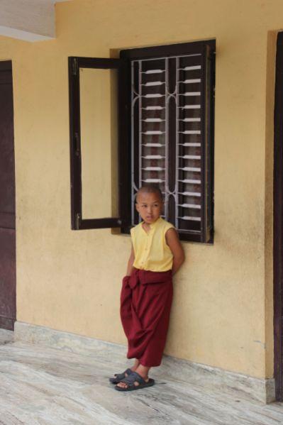 Studente scuola tibetana