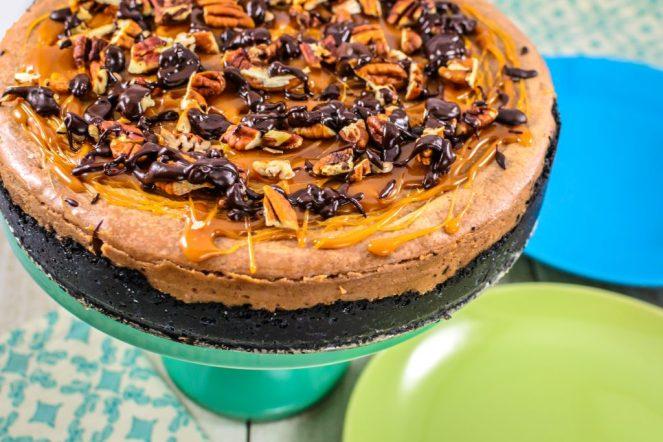 chocolate-and-caramel-turtle-cheesecake