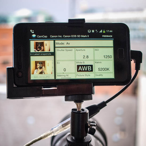 Give Your DSLR a Brain by Connecting an Android Phone phonemounted 3 copy