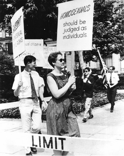 Barbara Gittings at an Annual Reminder in 1966.