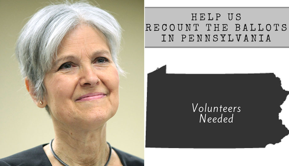 Image result for jill stein vote recount photo