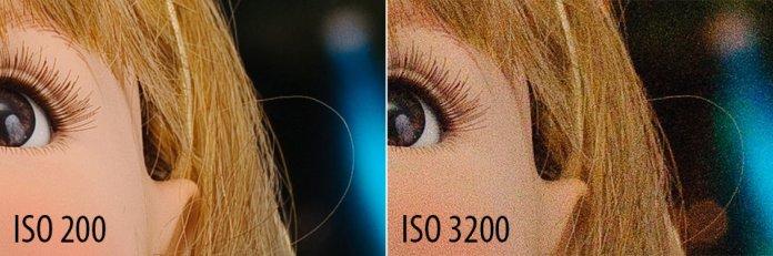 แม้ว่าการใช้ ISO สูงจะทำให้ภาพสว่างขึ้น แต่ก็มีผลเสียคิดทำให้ภาพเกิดสัญญาณรบกวนที่เรียกว่า Noise นั่นเอง