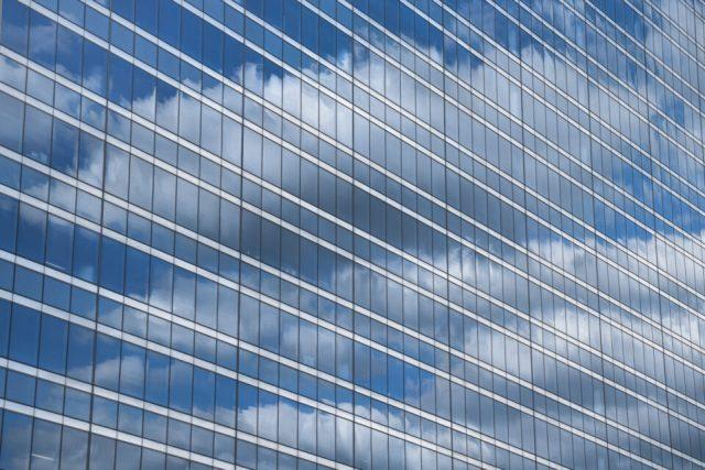 Clouds Reflected in Skyscraper