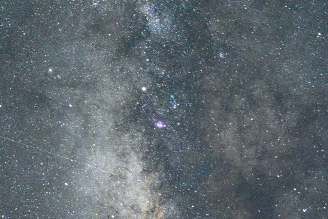 Nikon Z7 Milky Way Photo Crop at ISO 6400