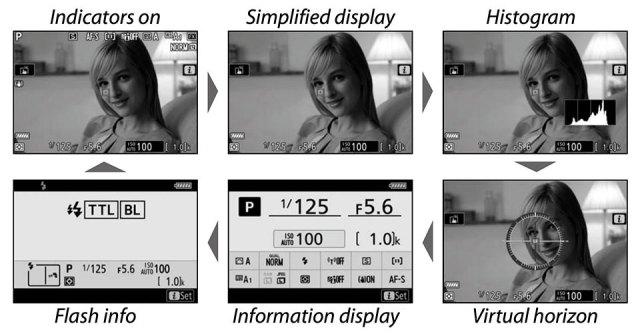 Nikon Z6 DISP Button Modes