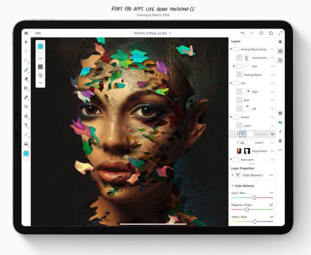 iPad Pro 2018 Running Adobe Photoshop