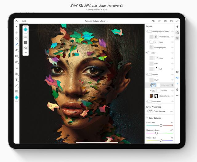 iPad Pro 2018 Running Adobe Photoshop
