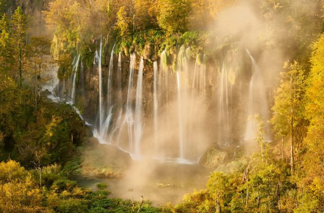 30. Sunrise in the Plitvice Lakes