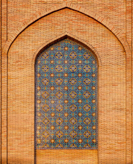 One of the walls of the Khast Imam Complex
