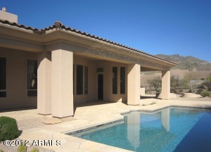 EXPANSIVE BACK PATIO WITH VIEWS OF BLACK MOUNTAIN