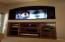 BUILT IN ENTERTAINMENT CENTER IN LIVING ROOM - FLAT SCREEN WALL MOUNT & REAR CEILING SPEAKERS INCLUDED