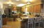 Spacious kitchen with breakfast bar.