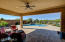 Ceiling Fan, Native Sun Shade on Lanai, Pavers