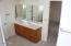Master bathroom single sink