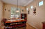 Look out from your large eat-in kitchen space.