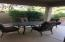Covered patio outdoor dining area