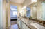 Master bath has double sinks & upscale cabinetry
