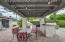 Professional misting system over the pergola and built in bar area