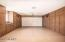 Two car garage with plenty of storage and room for the golf cart!