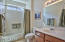 Full Guest Bath with Double Windows Makes a Bright and Light Room That Guests will enjoy.