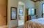 Master bedroom open to master bathroom.