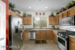 Kitchen with Granite Counter Tops and Stainless Steel Appliances!