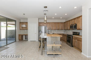 Remodeled Kitchen with Quartz Counters & Custom Butcher Block Island!