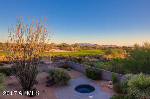 Views of the McDowell Mountains and the 4th hole on the Apache Golf Course...