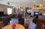Beautiful remodeled Kitchen Family room with Rocked Natural Gas Fireplace