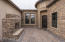 Front entry courtyard w/ upgraded built-in fireplace