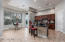 Kitchen features huge granite island and spacious breakfast room