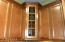 Beautiful cabinets, crown molding