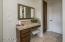Seperate vanity in the master bedroom.