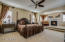 Gorgeous & spacious master bedroom with sitting area and cozy fireplace