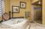 Master bath jetted tub and extra large shower