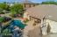 Pebble Sheen pool, covered patio, outdoor kitchen - it's time for a party!